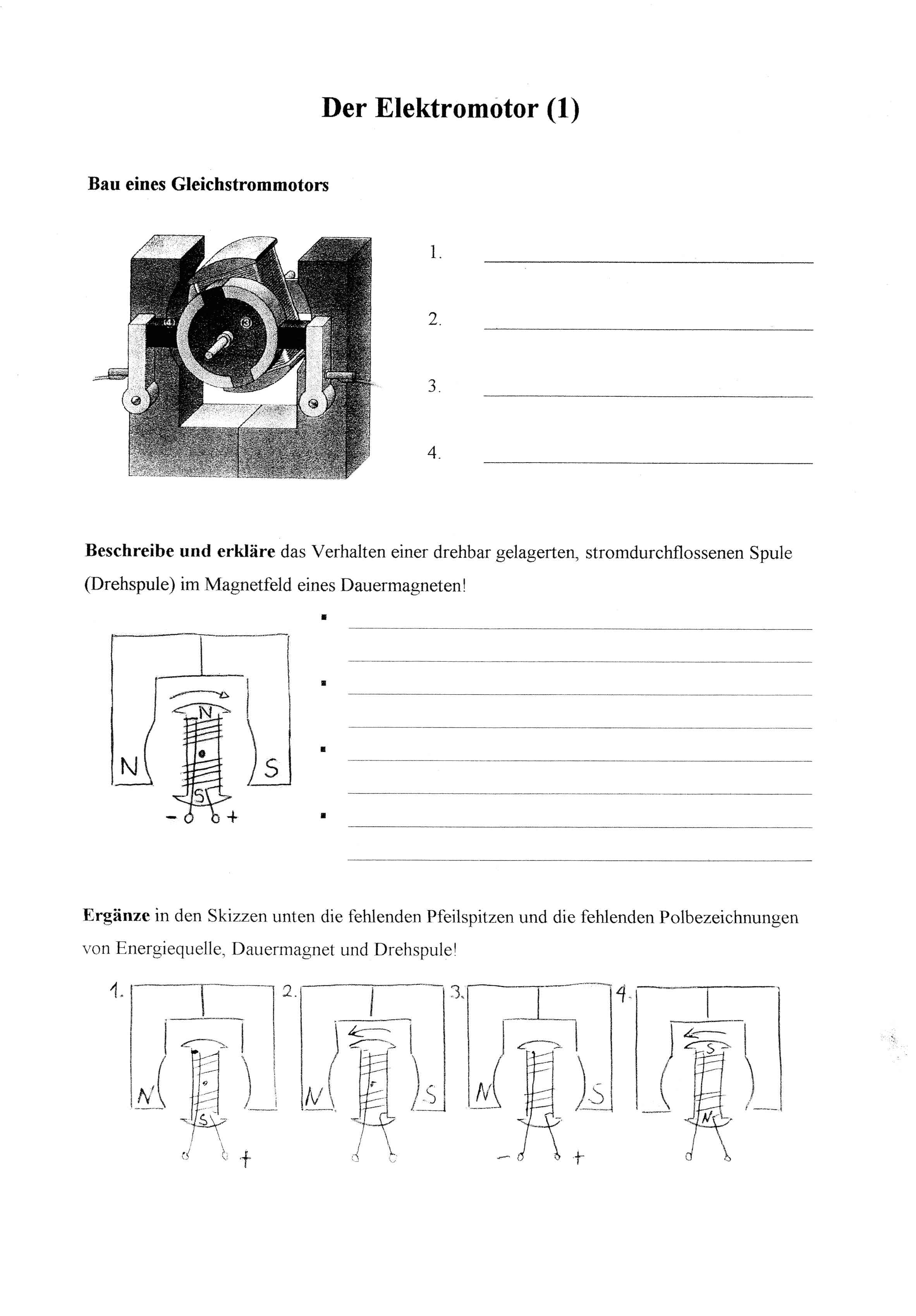 Berühmt Elektrostatik Arbeitsblatt Bilder - Mathe Arbeitsblatt ...